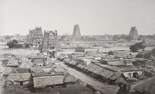 Srirangam top view old days