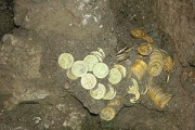 Padmanabhaswamy temple gold coins with sand